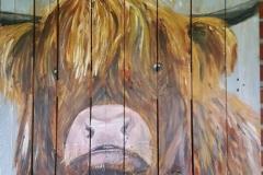 Schotse hooglander 75 x 103 cm € 150