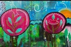 a. bomen kleurrijk(150 x 100) € 400