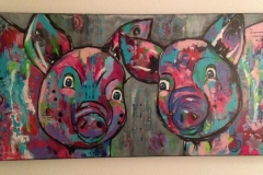 Kleurrijke varkens (verkocht)