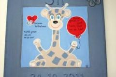 geboorteschilderij giraffe